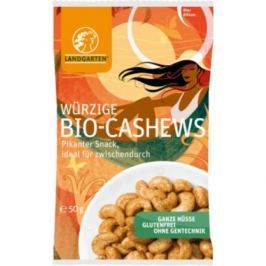 10 x Landgarten Bio Kešu ořechy ochucené, 50g