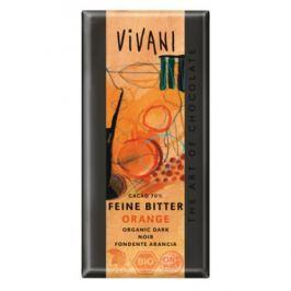 10 x Vivani Bio Hořká čokoláda pomerančová, 100g