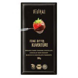 10 x Vivani Bio Poleva čokoládová hořká, 200g