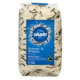 8 x Davert Bio Rýže Basmati s divokou rýží, 500g