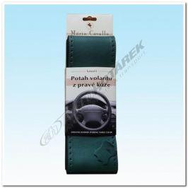 Kožený potah na volant - zelený A (36,5-39 cm) Potahy volantu