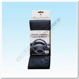 Kožený potah na volant - černý AX (36,5-39 cm) Potahy volantu
