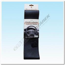 Kožený potah na volant - černý D (47-52 cm)