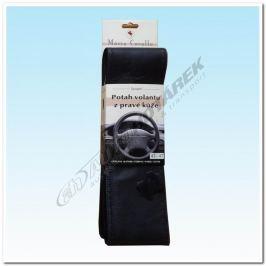 Kožený potah na volant - černý C (42,5-47 cm)