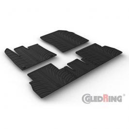 Gumové autokoberce Gledring Toyota ProAce City 2020- (oválné fixace, sklopná sedačka spolujezdce)