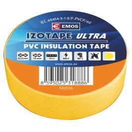 Izolační páska pvc žlutá 15mm/10m