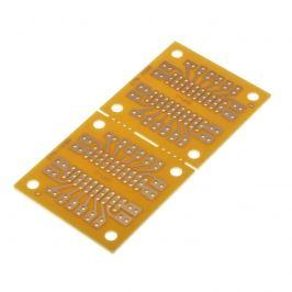 Univerzální plošný spoj 91x45x1,6mm pro patice dip vrtaný rm 2.54 kulaté body sci pc-5
