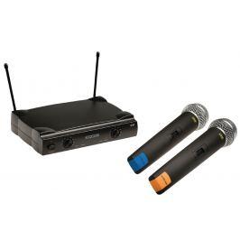 Bezdrátový mikrofonní systém 2 kanály könig kn-micw611