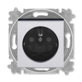 ABB Levit zásuvka titanová/kouřová černá s clonkami 5519H-A02357 70