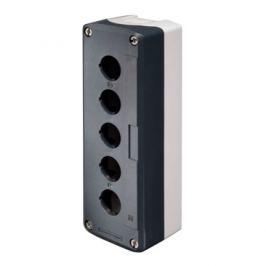 Schneider Harmony prázdná skříňka, tmavě šedá, 5 výřezů XALD05