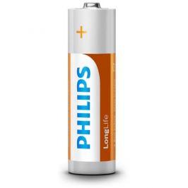 Tužkové baterie AA Philips LongLife LR6 R6L4F