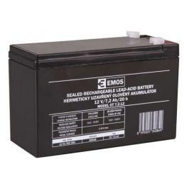 Olověný akumulátor EMOS B9654 12V 7,2Ah faston 4,8mm 1201000800