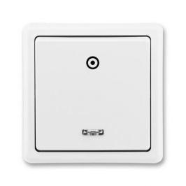 ABB Classic tlačítko č.1/0S se signalizační doutnavkou jasně bílá 3553-91289 B1