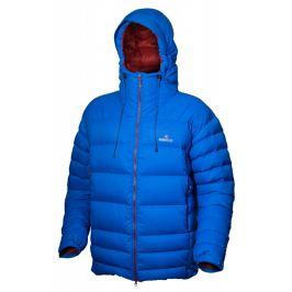 Pánská péřová bunda Warmpeace Alaskan Velikost: XL / Barva: modrá/červená