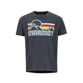 Pánské triko Marmot Coastal Tee SS (2019) Velikost: XL / Barva: tmavě šedá