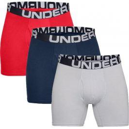 Pánské boxerky Under Armour Charged Cotton 6in 3 Pack Velikost: XXL / Barva: červená