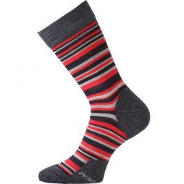 Ponožky Lasting WPL Velikost ponožek: 42-45 (L) / Barva: šedá/červená