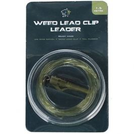 Nash Lead Clip Leader - Uni Ring Swivel, Weed Leadclip & Tail Rubber 1,5m