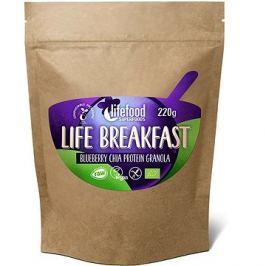 Lifefood Life Breakfast Bio Raw Granola borůvková s chia semínky