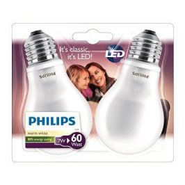 Philips LED Classic 7-60W, E27, 2700K, Mléčná, set 2ks