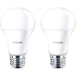 Philips LED 13-100W, E27, 2700K, matná, set 2ks