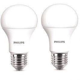 Philips LED 11-75W, E27, 2700K, matná, set 2ks