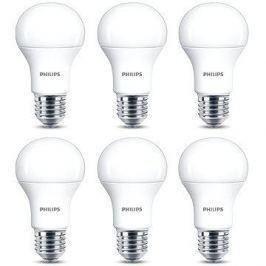 Philips LED 11-75W, E27, 2700K, matná, set 6ks