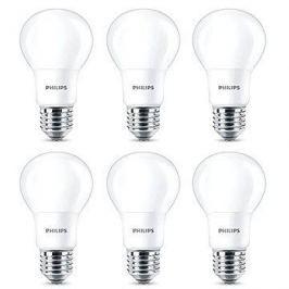 Philips LED 8-60W, E27, 2700K, matná, set 6ks