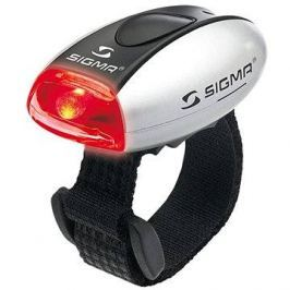 Sigma Micro stříbrná / zadní světlo LED-červená Zadní