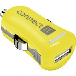 CONNECT IT InCarz Charger ONE 2.1A žlutá (V2)