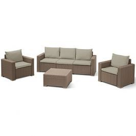 Allibert Set CALIFORNIA 3 SEATERS cappucino