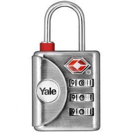 YALE VISACÍ ZÁMEK YTP1/32/119/1 s TSA, stříbrný