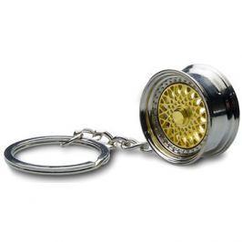 Přívěsek na klíče - lité kolo, zlaté