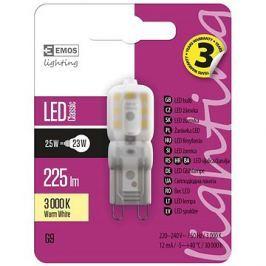 EMOS LED žárovka Classic JC A++ 2,5W G9 teplá bílá