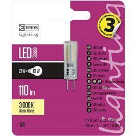 EMOS LED žárovka Classic JC A++ 1,3W G4 teplá bílá