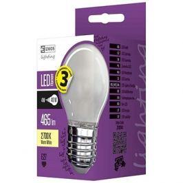 EMOS LED žárovka Filament Mini Globe matná 4W E27 teplá bílá
