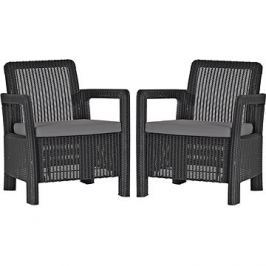 ALLIBERT TARIFA 2x chairs grafit