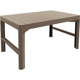 ALLIBERT Stůl LYON RATTAN cappucino
