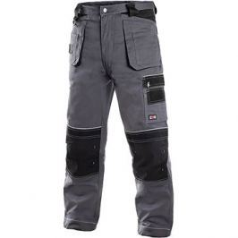 CXS Kalhoty do pasu ORION TEODOR šedo-černé, vel. 46