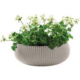 KETER Květináč COZIES L písková