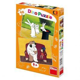 Dino puzzle Dino Puzzle 2 x 48 - Večerníčky