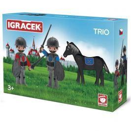 EFKO IGRÁČEK TRIO - 2 rytíři a černý kůň