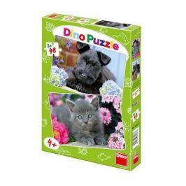 Dino Puzzle Pejsek a Kočička