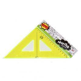 TOTO Pravítko trojúhelník neon