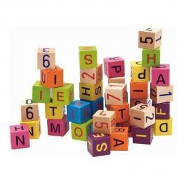 Barevné kostky s písmeny a čísly, 40 ks