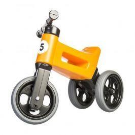 Teddies Funny Wheels Sport 2v1 oranžové s gumovými koly