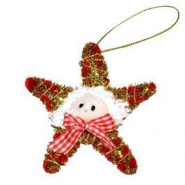 Wiky Wiky Dekorace vánoční - hvězda zlato-červená