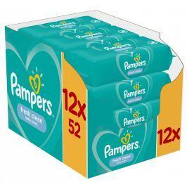 Pampers vlhčené ubrousky Fresh Clean 12×52 ks
