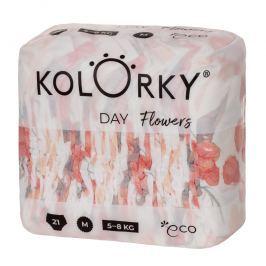 Kolorky Day M (5-8 kg) - Květy - jednorázové EKO plenky