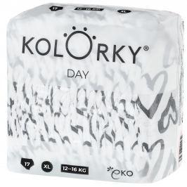 Kolorky Day XL (12-16 kg) - srdce - 17 ks - jednorázové eko plenky
